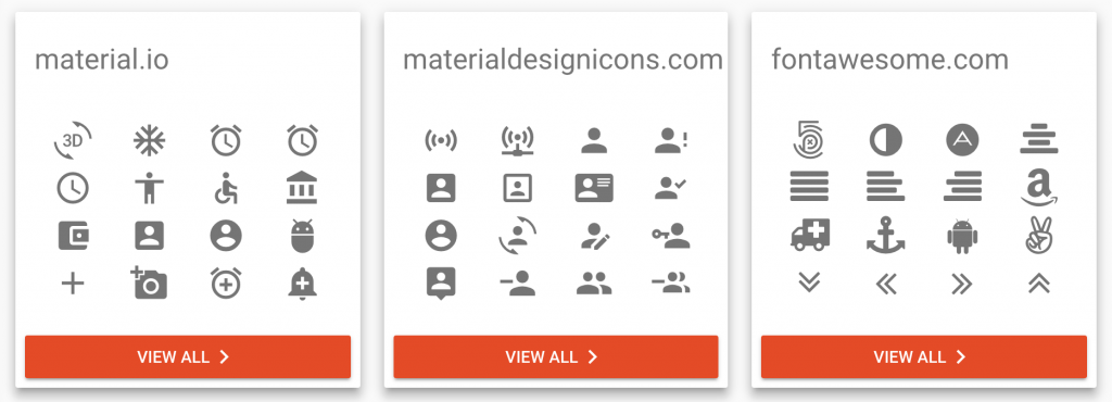 Vue material icons